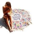 Hippie Mandala Tapiz Redondo Traje de Baño Cubre Sube Baño Toalla Traje de Baño cover-ups Beach Mat Manta de Playa