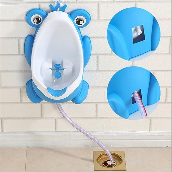 Children's Urinal Baby Kids Frog Potty Toilet Urinal Pee Trainer Wall-Mounted Boys Toilet Training Urinal  Automatic Drainage