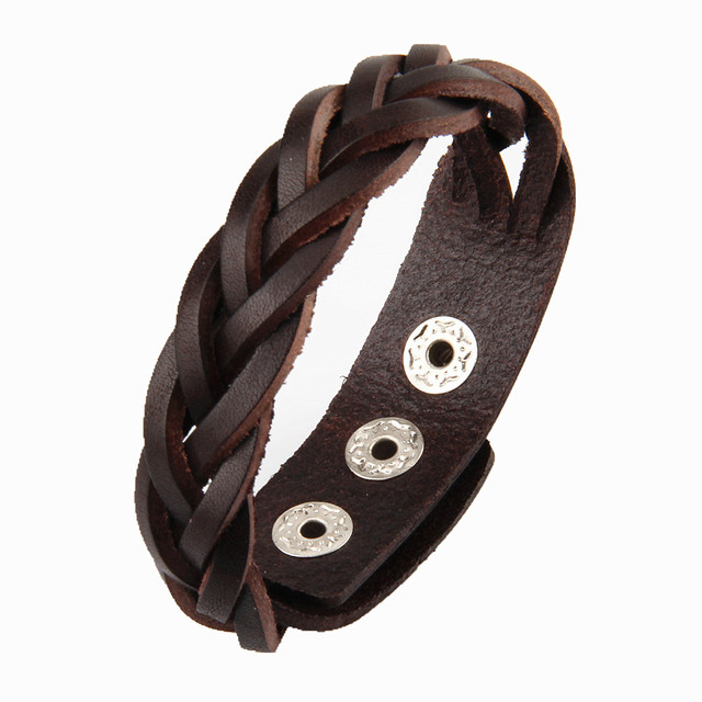 Braided Male Leather...