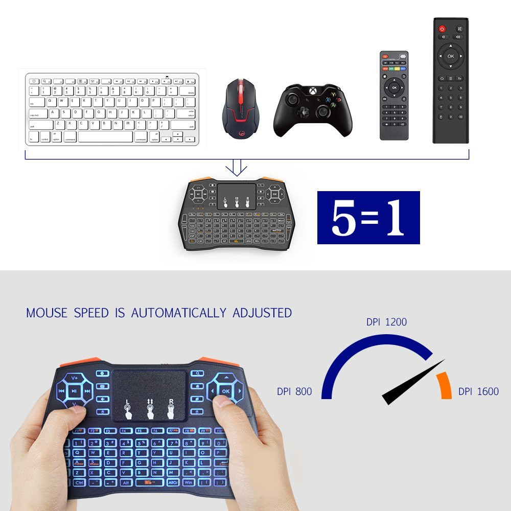 i8 Plus Wireless Keyboard 2.4GHz Russian/English letters Air Mouse Remote Control Touchpad For Android Tv Box Notebook Tablet Pc