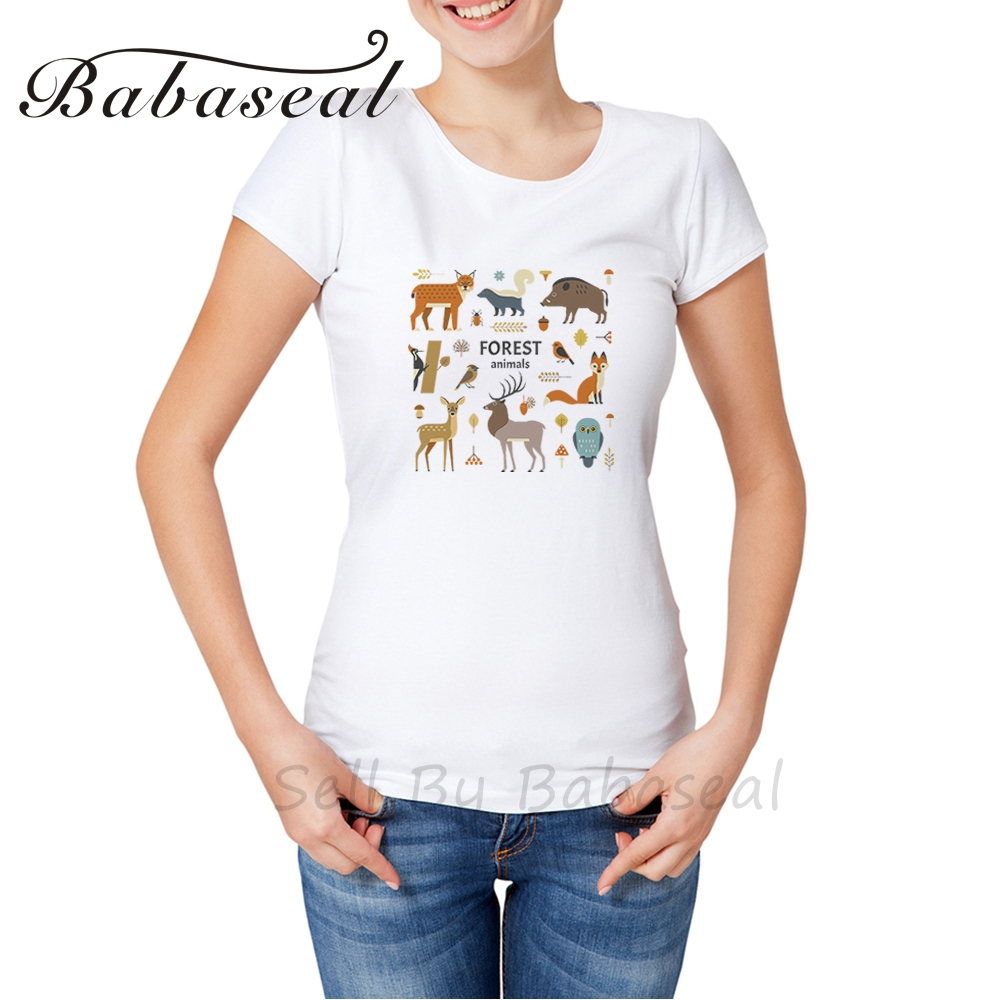 Babaseal Brand Animals T Shirt 2017 Rose Tee Shirts Totoro Graphic Tees Black Friday Sale Tops For Women Summer T-shirt Women