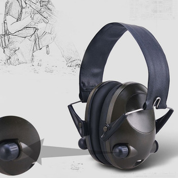 Anti-noise Military Tactical Earmuff Sport Hunting Shooting Ear Defenders Hearing Protecting Earmuffs With 3.5mm Audio Drop Ship