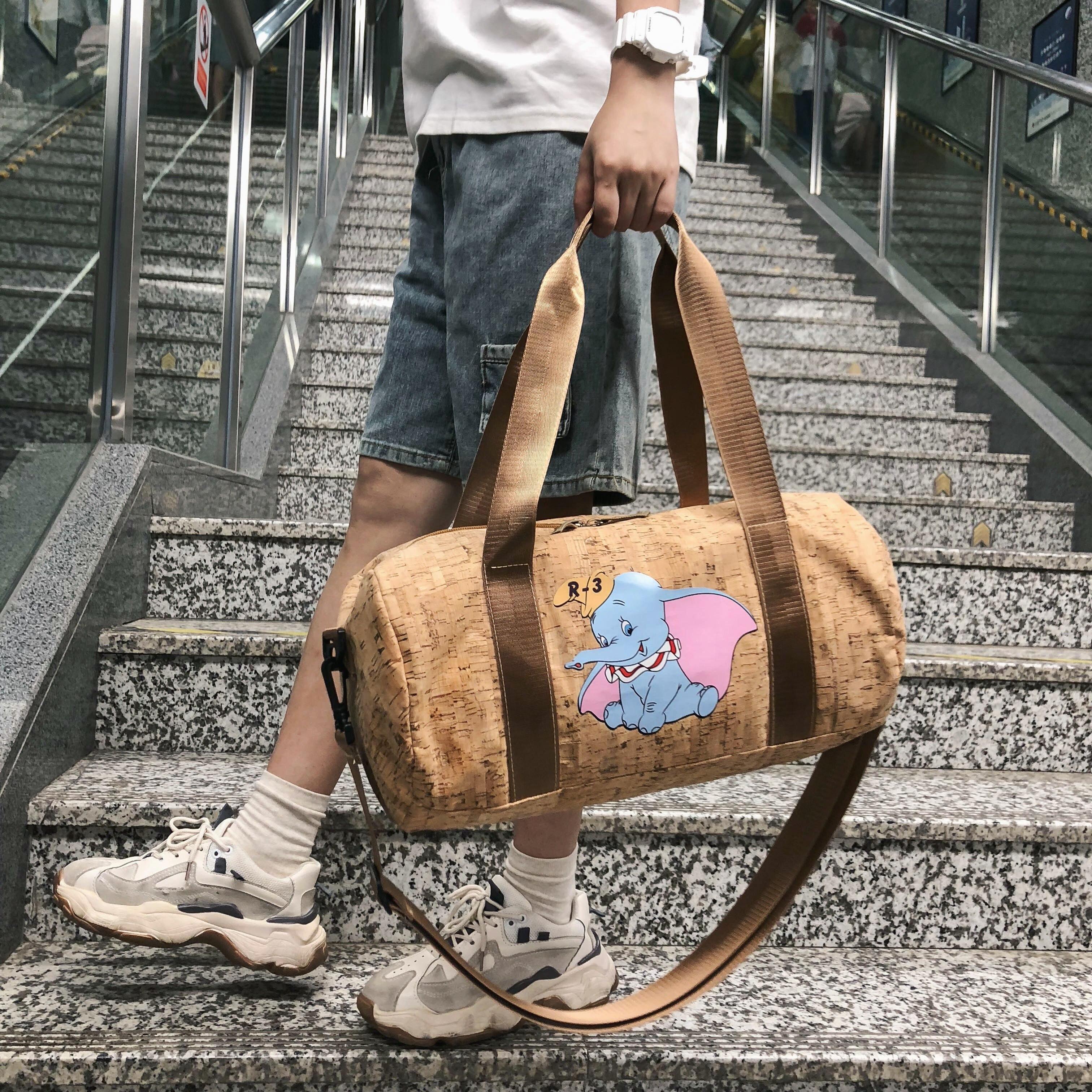 Women Travel Bags Cartoon 2019 New Fashion Large Capacity Waterproof Print Luggage Duffle Bag Men Casual Travel Bags Elephant in Travel Bags from Luggage Bags
