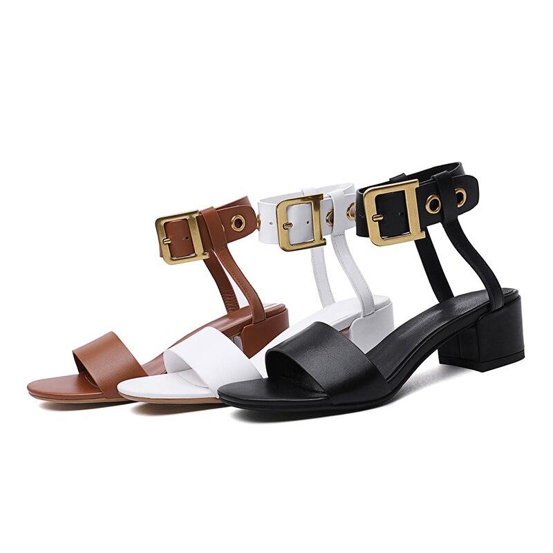 Женские ботильоны с квадратным носком на толстом среднем каблуке 4 см, с перекрестной шнуровкой, на молнии, Офисная модная повседневная обув... - 2