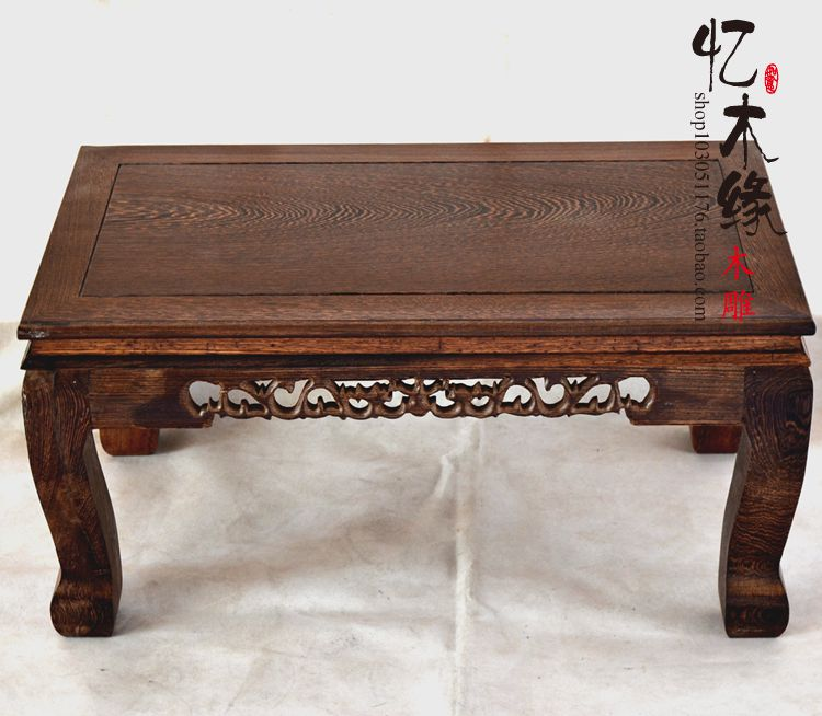 Mahogany wood carved wooden table table table windows and a few Kang tatami arhat bed foot table