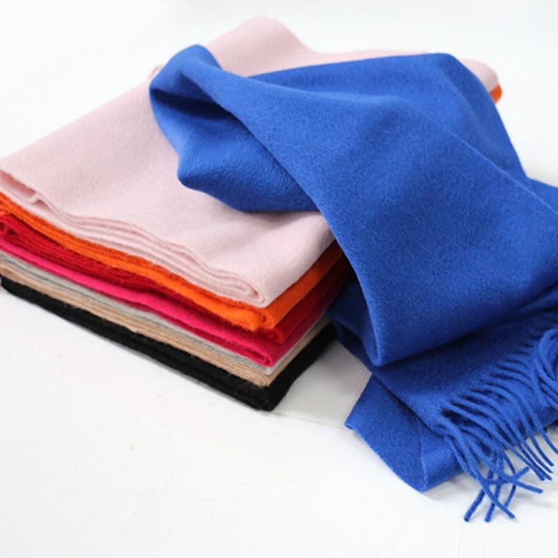 Lafarvie Sıcak Satış Yeni Varış 2018 Katı Renk Kaşmir Yün - Elbise aksesuarları - Fotoğraf 6