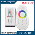 DC12V-24V RGBW/RGB Controller 2.4G RF Wireless Touch Screen Remote Control 6Aper Channel for RGB Led Strip lights 5050 3528 5630