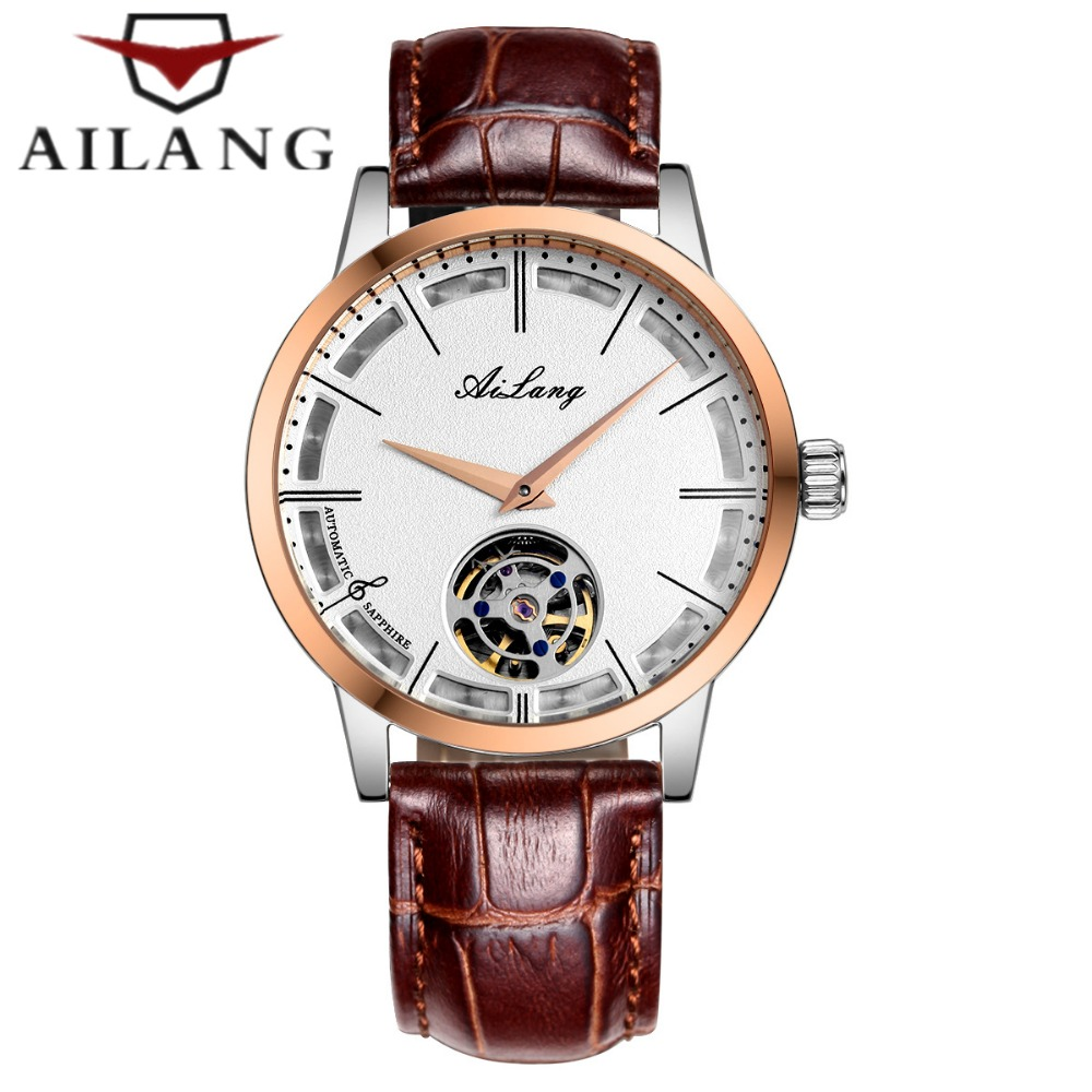 Mens Automatic Mechanical Watch Famous luxury brand AILANG Men Casual Wrist watch Leather Tourbillon Watch Relogio Masculino|masculino|masculinos relogios|masculino watch - title=