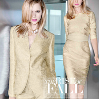 Gold Thread Woven Golden Jacquard Tapestry Satin Fall Haute Couture Fashion Fabrics Wholesale Haute Couture Fabric
