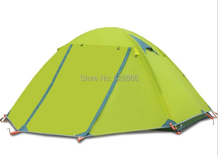 高品質二重層アルミポール 2 人防水防風四季キャンプテント  グループ上の スポーツ & エンターテイメント からの テント の中 1