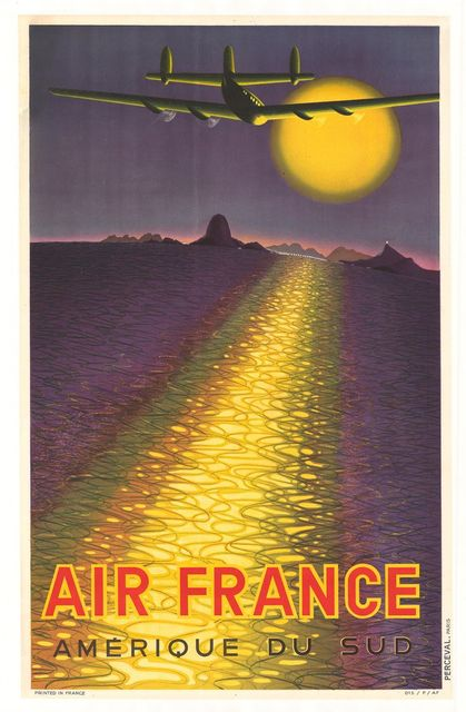 France America Air Line Vintage Travel Poster Classic Retro Kraft Decorative Maps Wall Sticker Home Bar Posters DIY Decor Gift