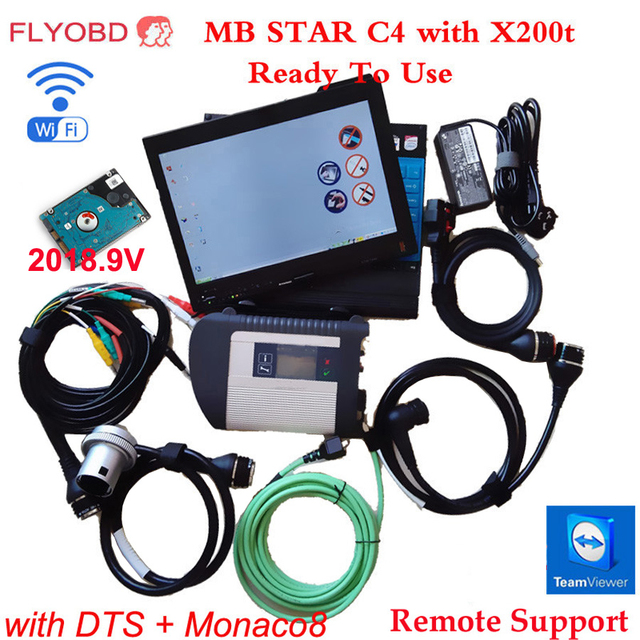 Big Sale MB SD Star 4 Diagnostic-tool SD Connect C4 for Car&truck Scanner with 2018.12V Software install on x200t  4G laptop fully to use