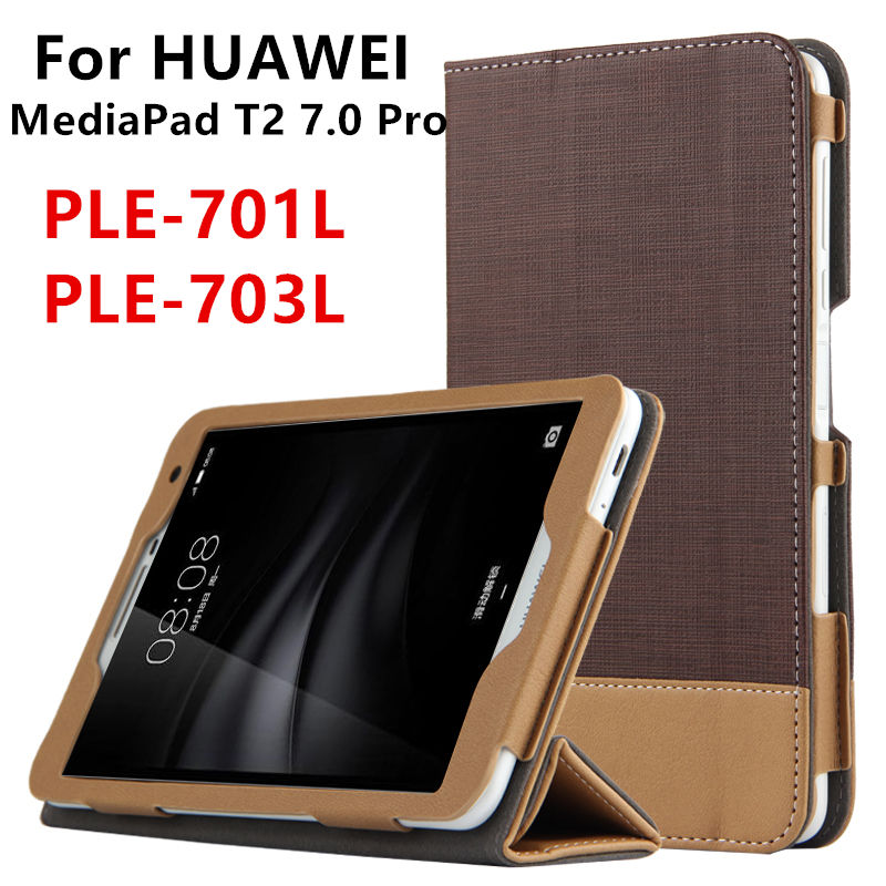 Case For Huawei MediaPad T2 7.0 Pro Smart cover Protective Faux Leather Tablet For HUAWEI Youth PLE-701L PLE-703L PU Protector cover case for huawei mediapad m3 youth lite 8 cpn w09 cpn al00 8 tablet protective cover skin free stylus free film