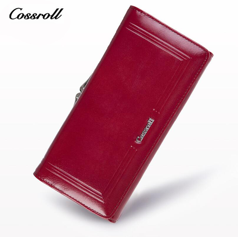 COSSROLL Wallet Female Genuine Leather Women Wallets Luxury Brand Card Holder Female Coin Purses Organizer Small
