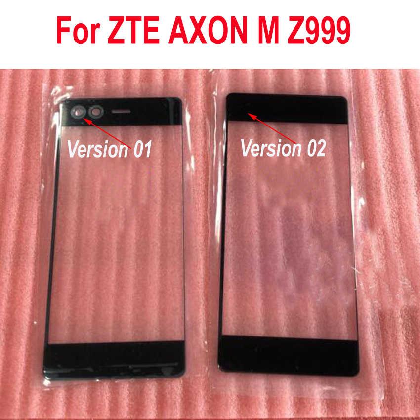最高品質新ブラックフロントパネルタッチ Zte AXON M Z999 外部スクリーン番号液晶電話交換