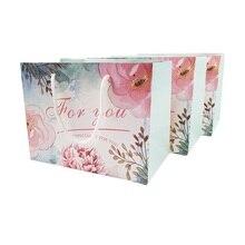 20 adet/grup 23x17cm yüksek kaliteli çiçek deseni küçük hediye çantası kolları ile zarif hediye çantası doğum günü sevgililer günü partisi