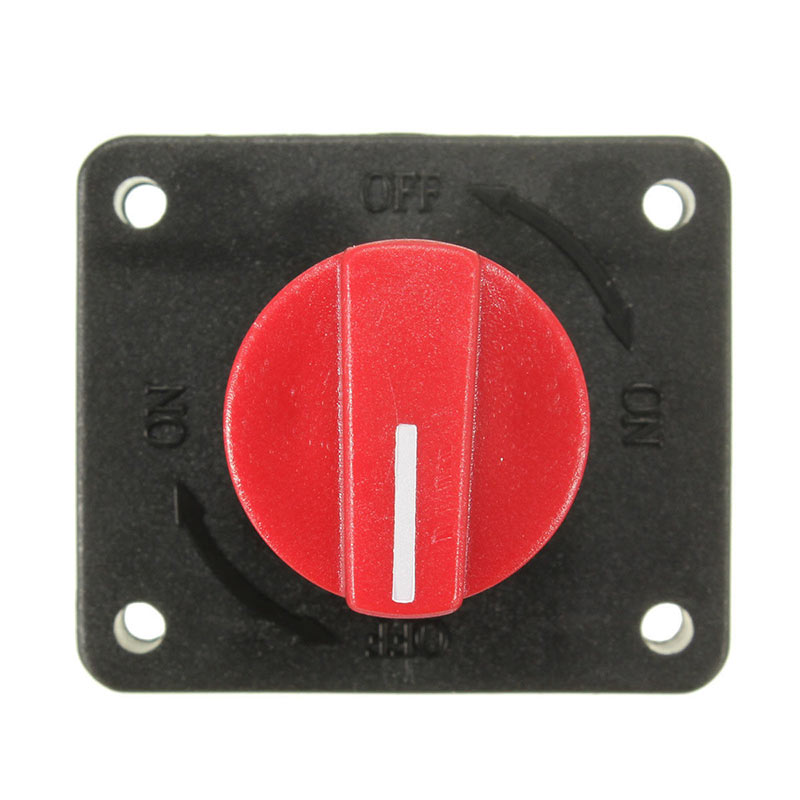 New Arrived 1 Pcs Battery Isolator Disconnect Power Cut Off Kill Selector Switch For Boat Car Van Truck Camper 100A qiorange battery switches disconnect isolator master 1 2 both off selector switch for marine boat car rv vehicles