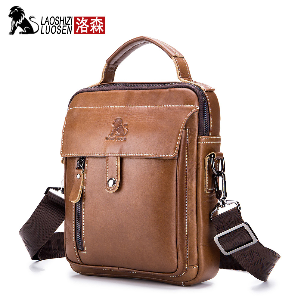 456eeba56f82 Detail Feedback Questions about Men s Bags Crossbody Shoulder Genuine Leather  Messenger Bag Fashion Small Oil Wax Casual Flap Male Business Travel  Handbags ...