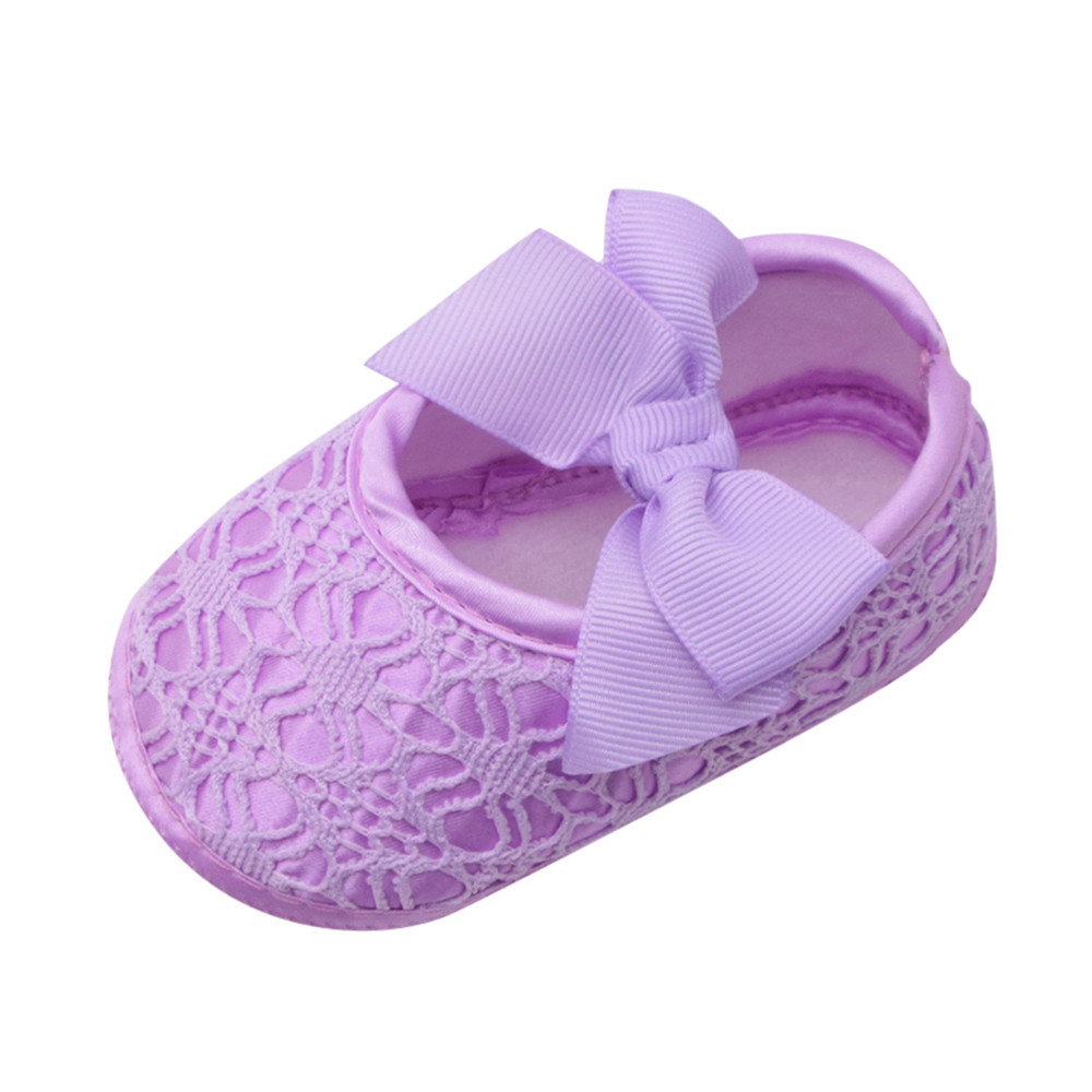Huang Neeky W#5 Fashion Comfortable Newborn Baby Girls Soft Shoes Soft Soled Non-slip Bowknot Footwear Crib Shoes