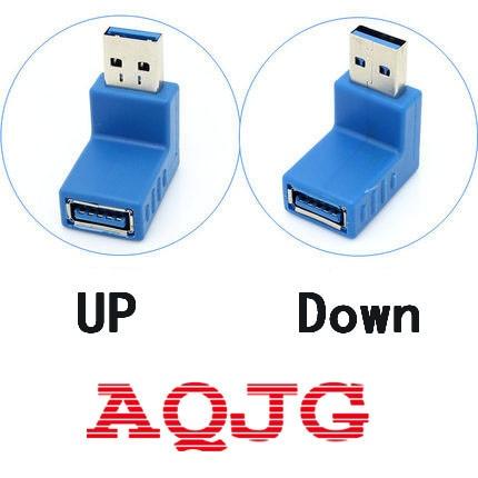 1pcs USB3.0 AM to AF L Shape Converter Adapter Extender USB 3.0 A Male to A Female 90 Degree Angle Connector  Blue аксессуар espada usb am af l образный eusb2am aflob eusbamf90
