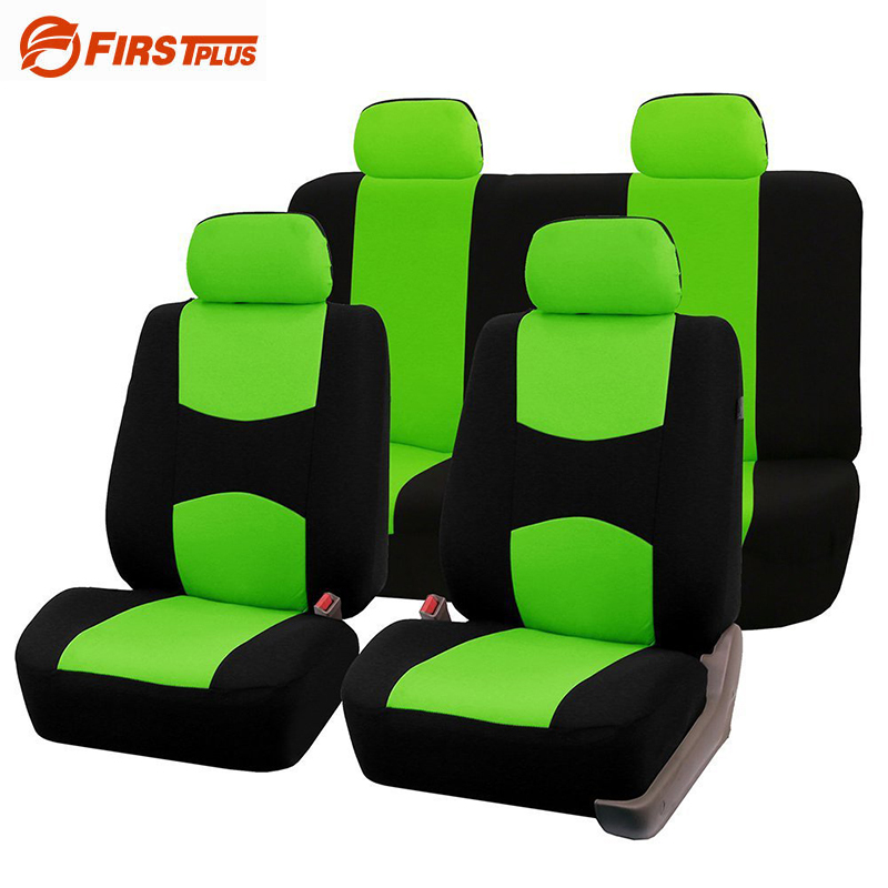Car Styling Elastic Polyester Car Seat Covers Front Back Seat Cushion Cover Auto Chair Universal Fit - Interior Accessories car styling elastic full seat covers universal fit front back seat protector cushion cover auto chair interior accessories