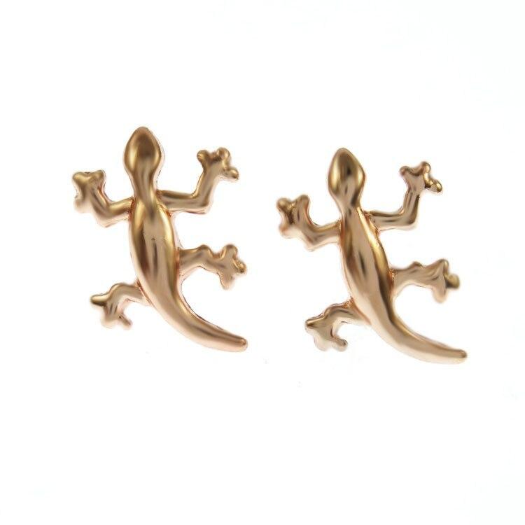 Lizard Reptile Stud Earrings For Women Girls Cute Gecko Animal Nicke Free Personality Party Jewelry