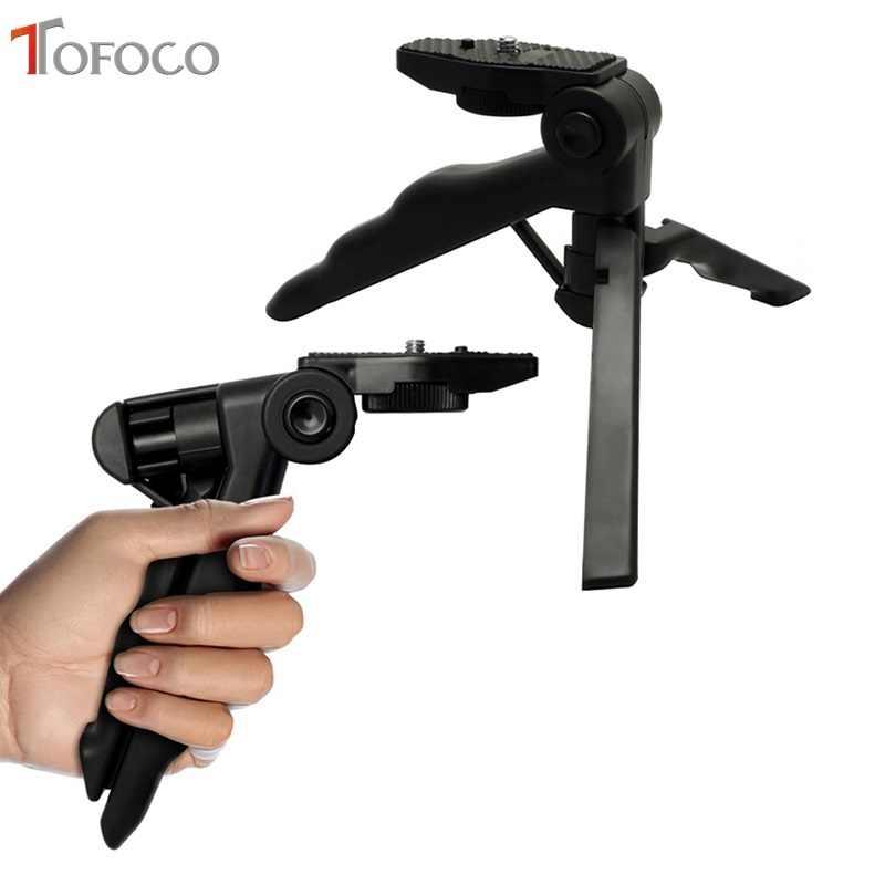 TOFOCO Lidar Com Three-way Ajustável Braços Macro Tripé Desktop Beleza Perna do Tripé Flexível Se Encaixa para Sony Canon Nikon Pentax Digital
