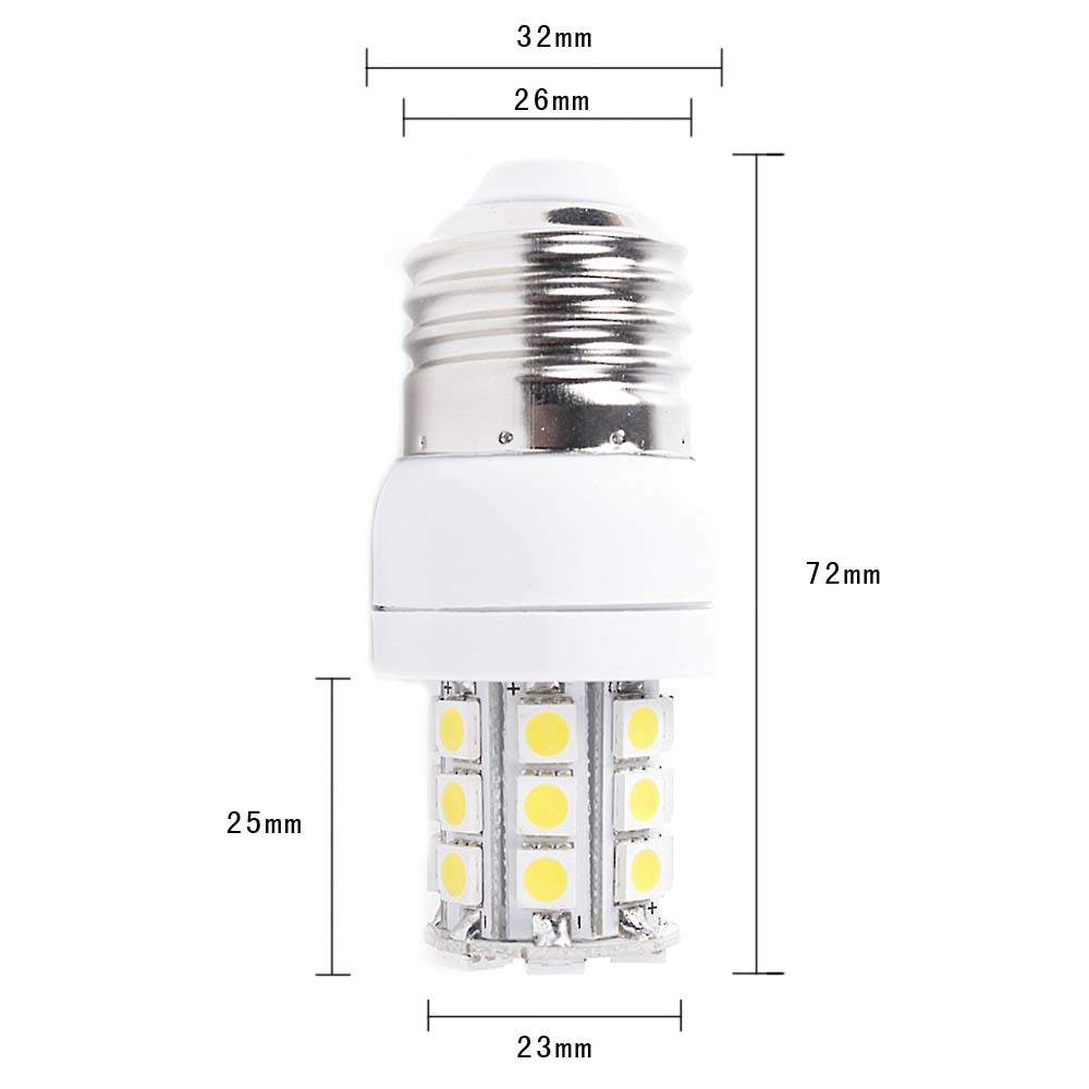Wholesale SMD 5050 27 LED E27 base type 270LM 5W warm White Energy saving Corn Light Bulb 220V CE Rohs approval
