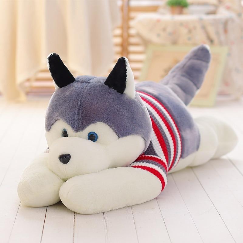 New Big Dog Shape Decorative <font><b>Cushion</b></font> Throw Pillow Baby pillow with Inner <font><b>Home</b></font> Decor Cartoon Sofa Toys Sleeping Pillow