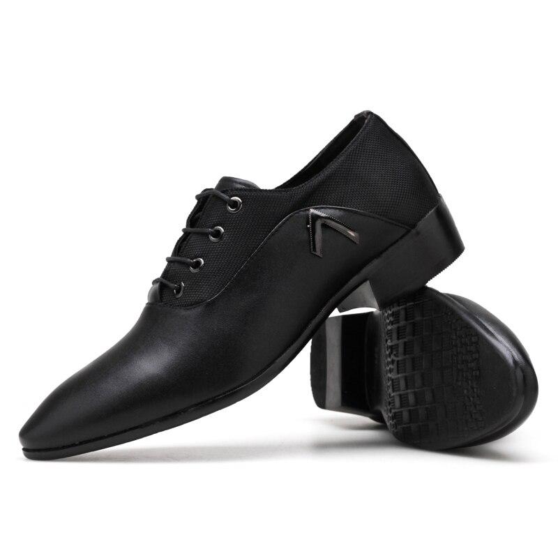 En Zapatillas yellow Black Formelle Mariage D'affaires Hommes Homme Véritable Luxe Cuir À De Lacets Mocassins Oxford Décontracté Marque Chaussures Habillées T6wqxHU