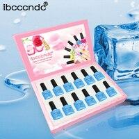 12pcs/lot UV Gel Nail Polish Sky Blue Series Gel Vernis Semi Permanent Nail Primer Gel Varnishes Lacquer Gelpolish with Gift Box