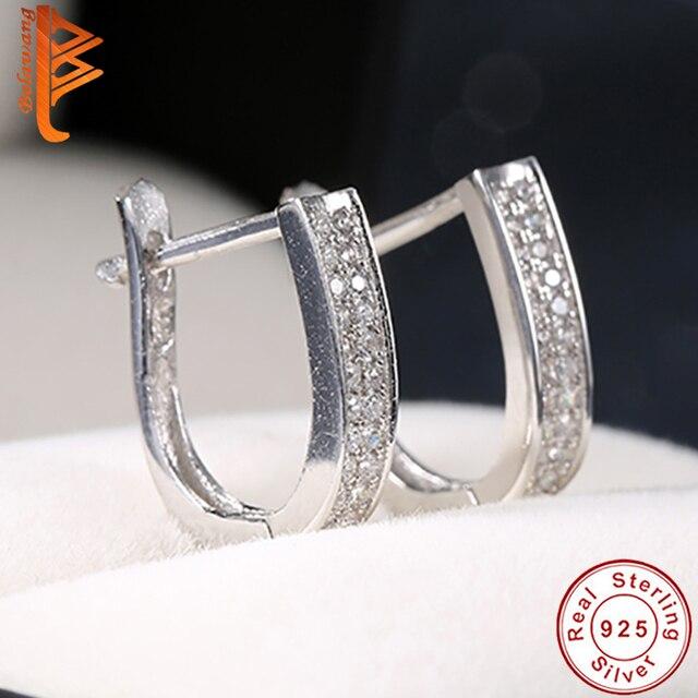 Bela 2018 Top Quality Fashion Hoop Earrings Lead Nickel Free 925 Sterling Silver For