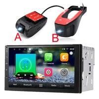 2din Android 7,1 автомобиль радио для Bluetooth Стерео gps Wi Fi FM touch 1024x600 универсальный dvd плеер usb DVR видеорегистратор