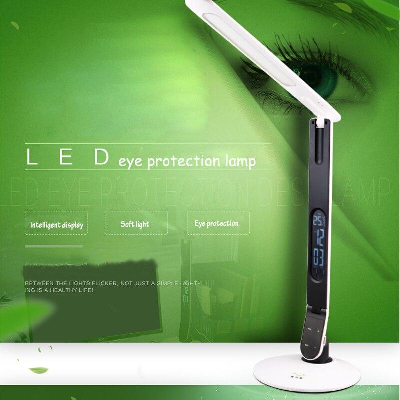 СВЕТОДИОДНЫЙ цифровой Дисплей настольная лампа сенсорный три-уровень затемнения защита глаз исследовании настольная лампа 12 В