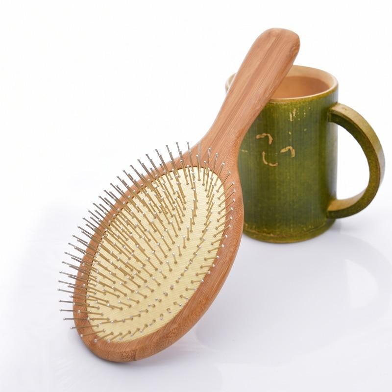 Natūralus medinis masažas Oro pagalvės Šukos priežiūra Plaukų priežiūra Plaukų šepetys ir grožis SPA Masažas Šukos antistatinis galvutė Medinis šukos SY17D5
