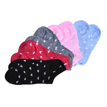 5 Pairs Womens Casual Ankle Low Cut Cotton Socks Love heart funny harajuku meias 5 Colors calcetines
