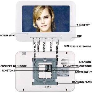 Image 3 - 6 Apartment/ครอบครัววิดีโออินเตอร์คอม RFID IR CUT HD 1000TVL กล้อง 6 ปุ่ม 6 MONITOR