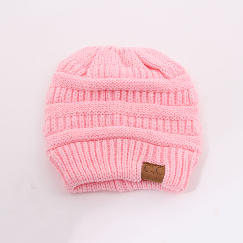 a1ff42fee6e80 CC Fashion Ponytail Beanie Winter Hats For Women Crochet Knit Cap ...