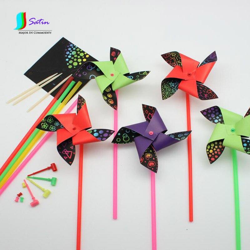 Multicolore artisanat papier Origami papier moulin à vent
