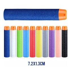 Пенные дротики, мягкие игрушечные пули длиной 7,2 см с отверстием для воздуха, 100 шт.