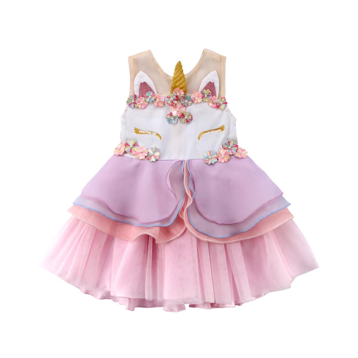 Navidad bebé tutú vestido unicornio partido gasa sin mangas boda del ...