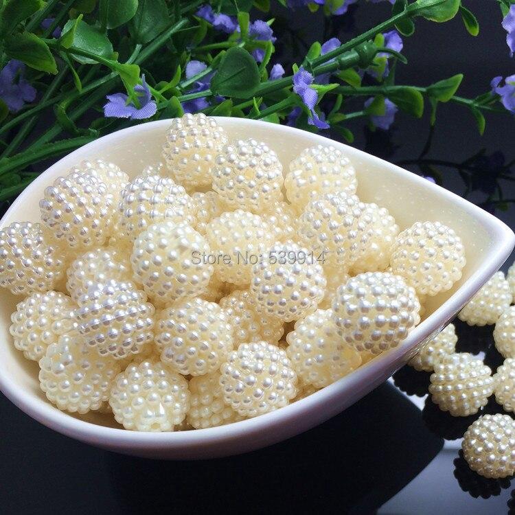 Prix pour Pick Size10.12.15.20mm ABS couleur ivoire Imitation perles perles perles rondes Fit Europe perles fabrication de bijoux