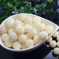 Selección size10.12.15. 20 mm ABS marfil Color de imitación de la perla redonda cabida los granos europeos fabricación de la joyería
