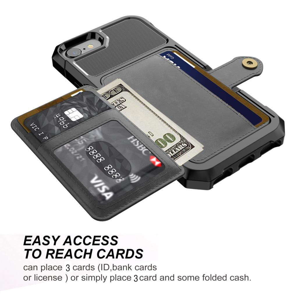 Image 3 - Luxury PU Leather Wallet Case for iPhone 6 6s 7 8 Plus X XS XR XX MAX Cases Wallet Flip Cover Buckle for iPhone Phone XR Fundas-in Fitted Cases from Cellphones & Telecommunications