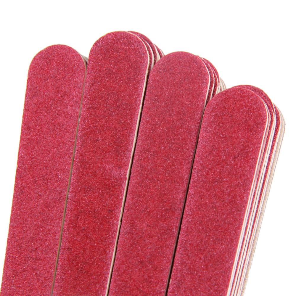 10/40 pcs Nail Art Manicure Buffer Sanding Nail File Kayu Crescent - Nail art - Foto 3