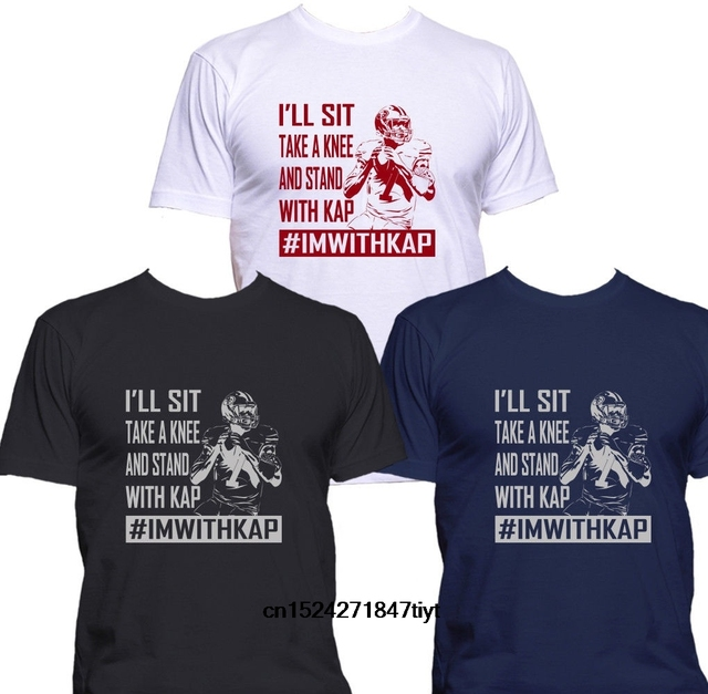 35e7bb482 New Colin Kaepernick I ll Sit Take a Knee and Stand with Imwithkap Mens T- shirt Cool Printed T Shirt