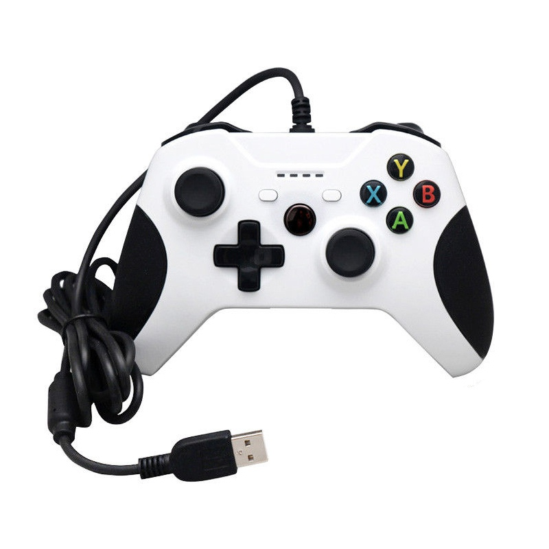 Game Controller with Shock Vibration Shoulders Buttons For Microsoft Xbox One Wired Controller Gamepad Joystick For PC Windows 100% quality wire gamepad game controller joystick for xbox one and pc usb wired controller gamepad with dual vibration joypad