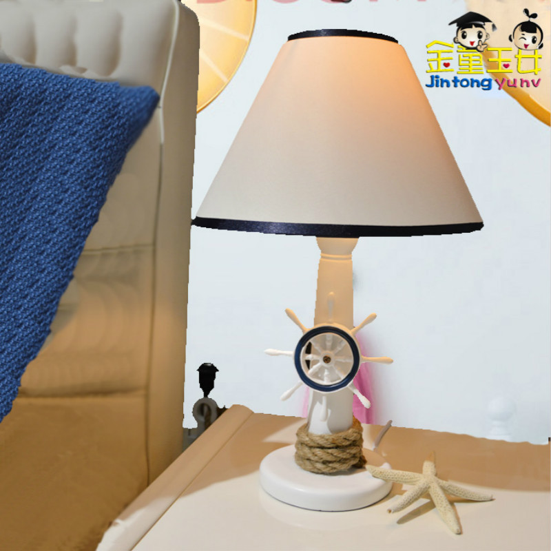 TUDA25X42cm Free Shipping Meditrerranean Style Table Lamp Rudder & Anchor Resin Table Lamp for Living Room Bedroom Table Lamp kus marine accessories marine instrumentation rudder angle indicator rudder angle table rudder angle sensor 12v 24v