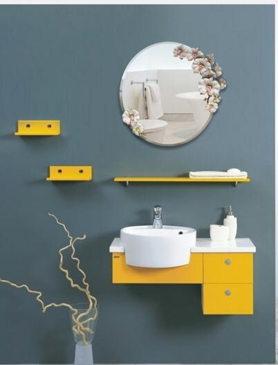 Adornment mirror wall hang creative beauty salon mirror..Circular toilet mirror with waterproof and anti-mist mirror