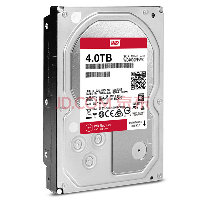 WD RED Pro 4TB Disk Network Storage 3.5 '' NAS Hard  Red   7200RPM 256M Cache SATA3 HDD 6Gb/s WD4003FFBX